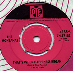 Author's copy of That's When Happiness Began. Now changing hands for �100 and more on the FreakBeat Circuit!
